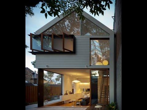 Dise o peque a casa de dos pisos con planos youtube for Casas pequenas de dos pisos