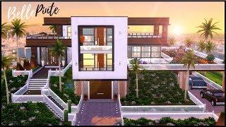 Les Sims 4 - Speed build // MAISON MODERNE (et histoire d'horreur)