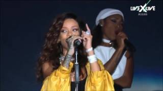 Рианна без фонограммы / Rihanna  Real Voice Without Auto Tune