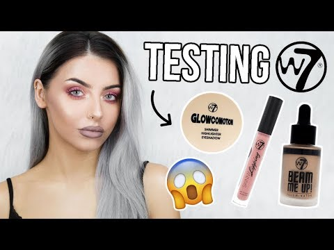TESTING W7 MAKEUP / FULL FACE OF FIRST IMPRESSIONS - DOES IT WORK!?