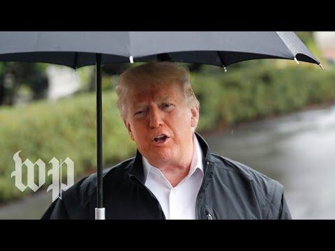 Trump Visits Eglin Air Force Base In Florida