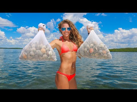 How To Catch Clean And Cook SCALLOPS! Found A RARE TROPHY! (Scalloping In Florida)