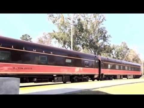 Restored Vintage Pullman passenger rail cars at Brookhaven, MS Nov 15, 2012