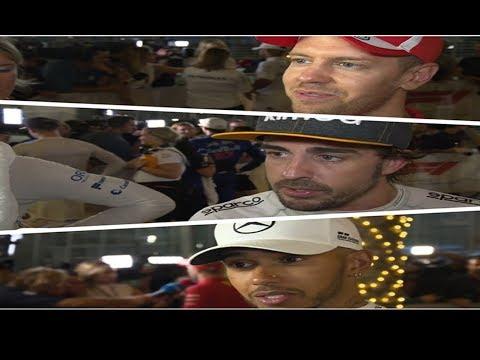 F1 2018 Bahrain GP -  Post Race Interview Alonso,Vettel, Hamilton & More
