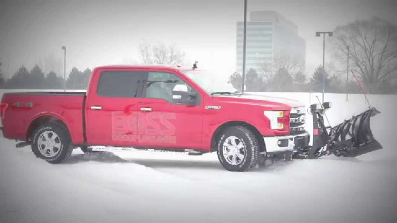 Ford 2015 F150 Boss Snow Plow Atv Loading Raw Footage Youtube