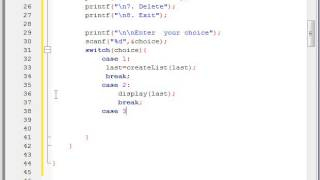 Program of circular linked list in C Part 8 Hindi