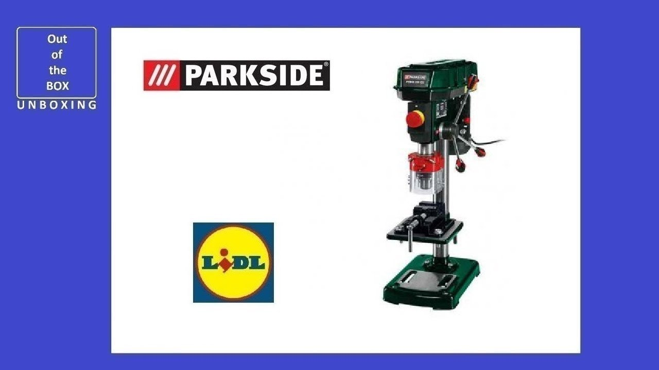 Unboxing Parkside Bench Pillar Drill Ptbm 500 E5 Lidl 17kg 2500 Min 16 Mm 500w