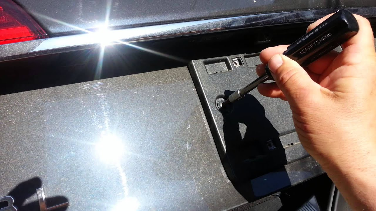 How To Quickly Easily Remove An Audi Plate Frame YouTube - Audi license plate frame