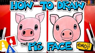 How To Draw Tнe Pig Face Emoji 🐷