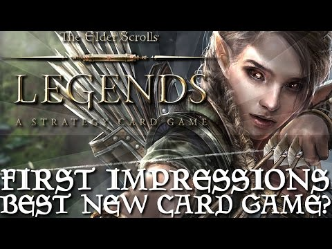 The Elder Scrolls Legends w/ ShadyPenguinn - First Impressions With The Best New Card Game?!