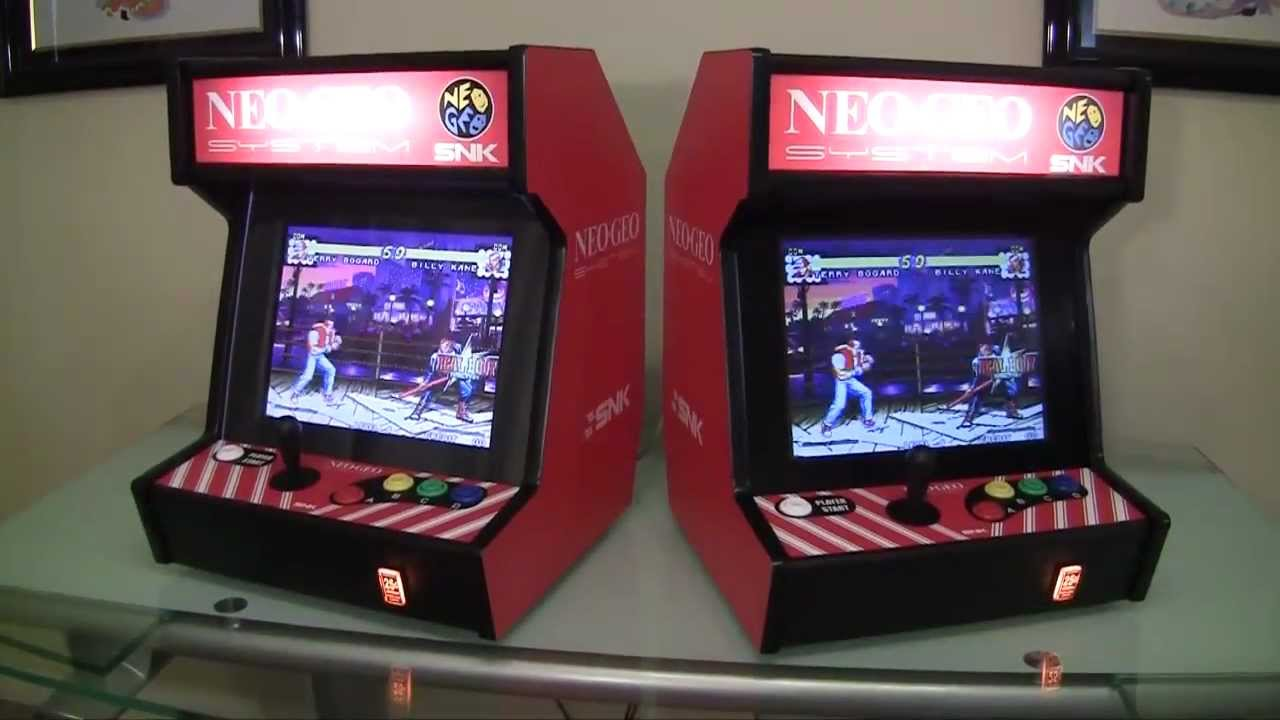 Neo Geo Bartop Arcade System - YouTube