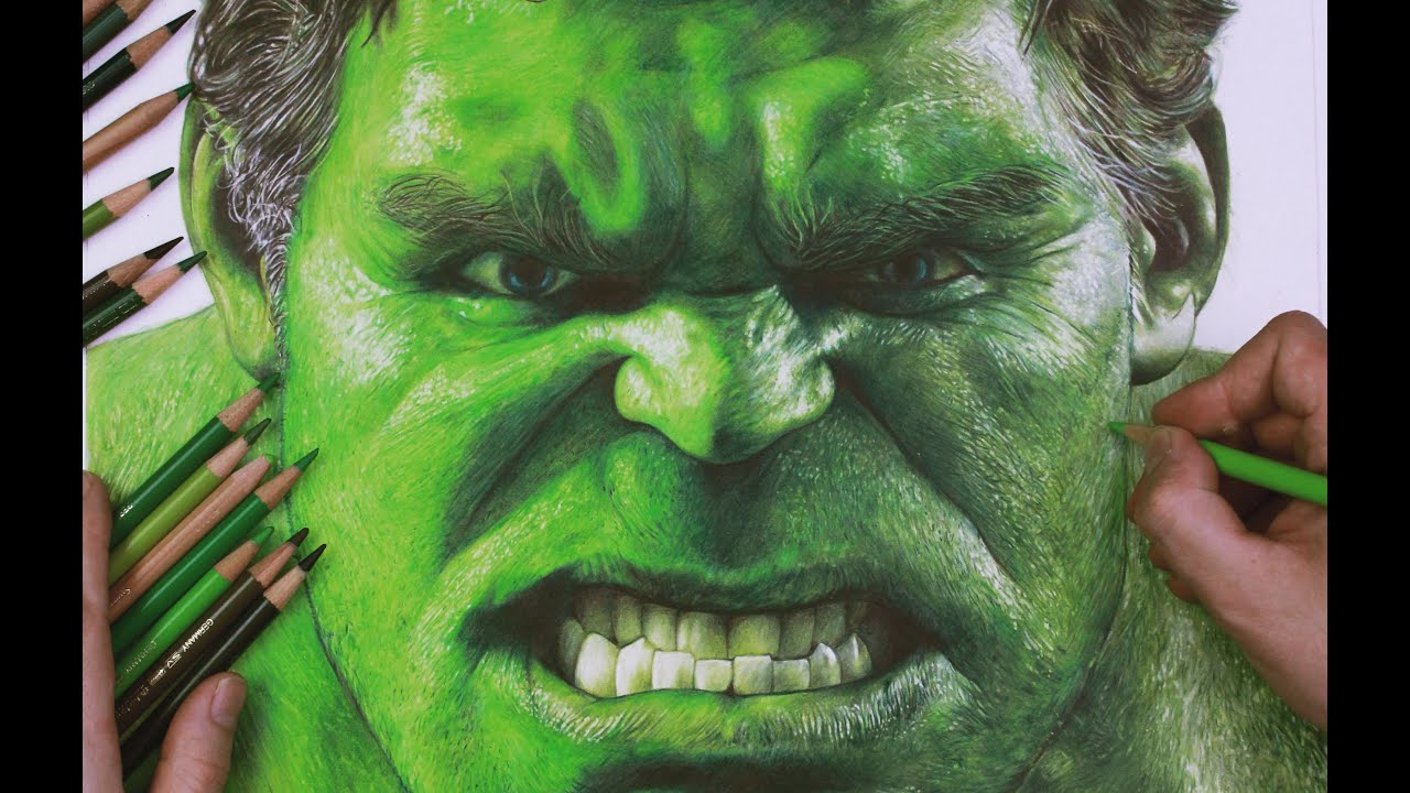 Drawing The Incredible Hulk Timelapse   YouTube