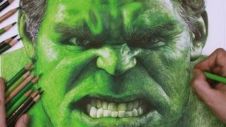 Drawing The Incredible Hulk timelapse