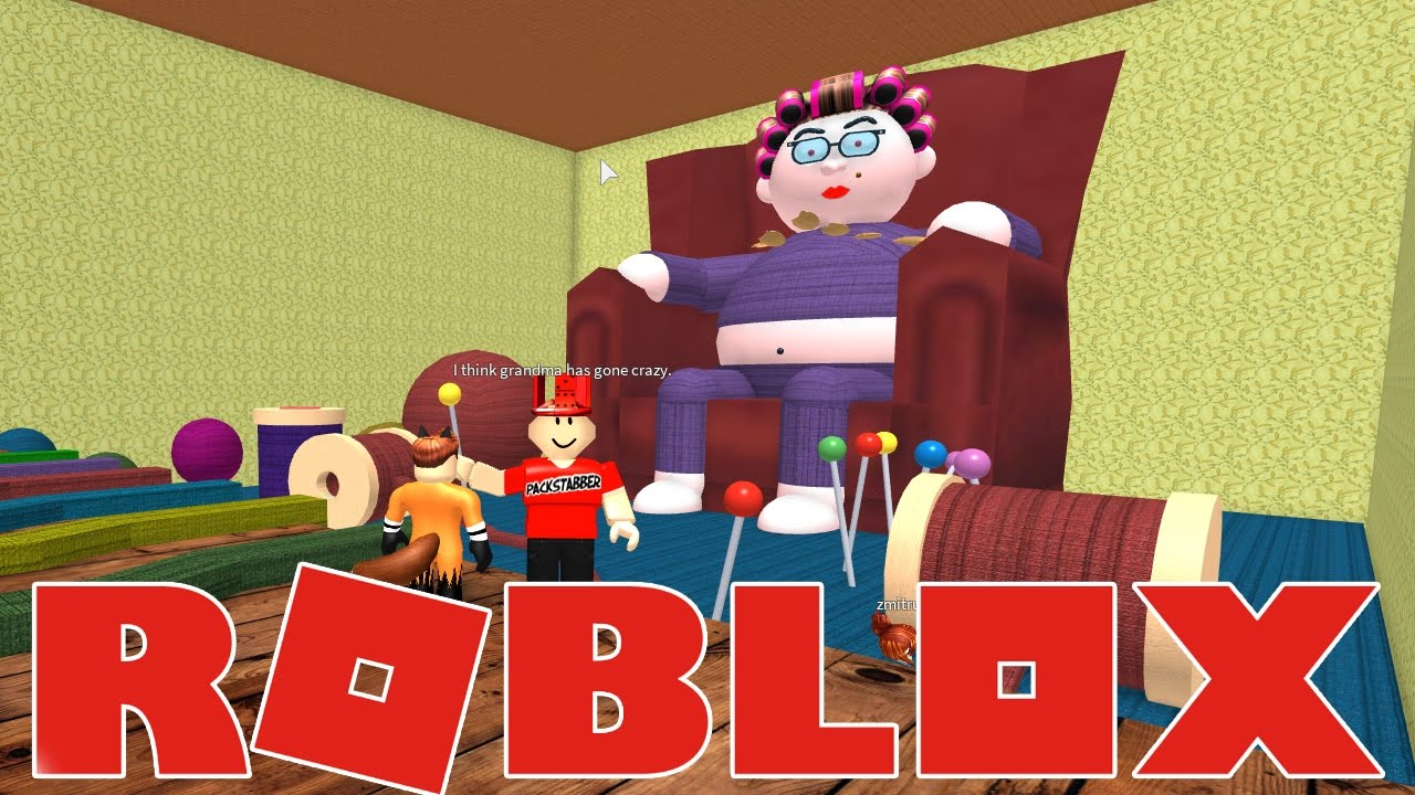 Omega Obby Roblox Grandma Has Gone A Bit Mental Escape From Grandma S House Obby Youtube