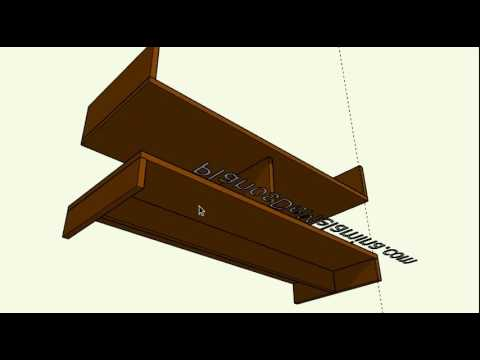 Como hacer un mueble para televisor en melamina YouTube