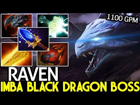 RAVEN [Dragon Knight] Imba Black Dragon Too Fast Farming 1100 GPM 7.22 Dota2