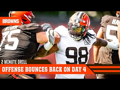 Offense Bounces Back On Training Camp Day 4 | 2 Minute Drill