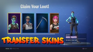 FORTNITE | HOW TO TRANSFER EVERY SKIN TO ANOTHER ACCOUNT FREE  | SKULL TROOPER