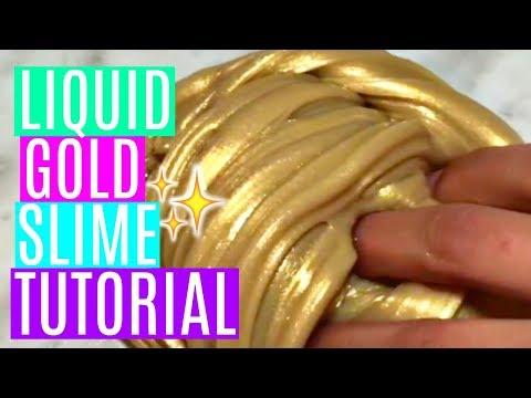 **DIY** Liquid Gold Slime | Shiny Pearl Metallic Slime Tutorial!