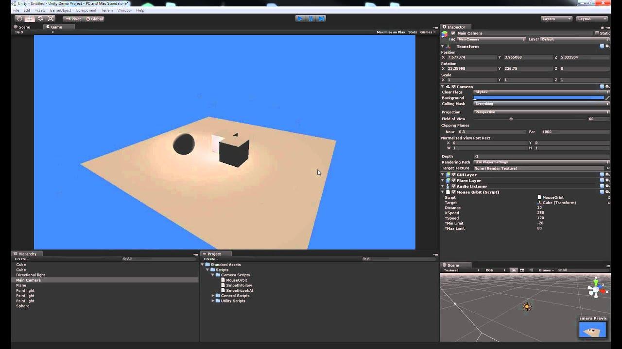 Camera Control in Unity3D