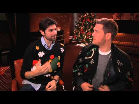 Ben Aaron And Michael Buble Wear Holiday Sweaters And Sing Barbie Girl...Enough Said