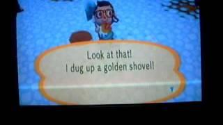 How to get a golden shovel on animal crossing city folk
