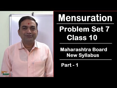 Mensuration Problem Set 7 Class 10 Maharashtra Board New Syllabus Part 1