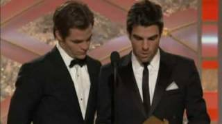 Zachary Quinto at 66th GoldenGlobesAwards(watch in HQ)