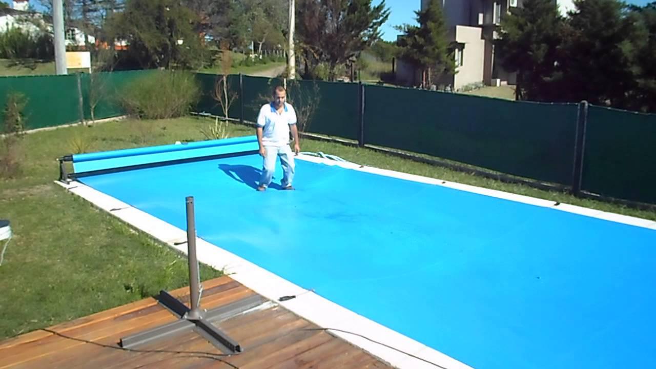 Cubre piletas super resistente con sistema para enrollar for Como hacer una pileta de natacion