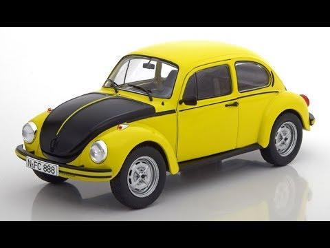 Modelissimo: Solido VW Beetle 1303S GSR 1973 yellow / black 1/18