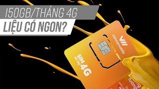 Đánh giá thánh sim 4G Vietnammobile Sim 4G 150GB/tháng