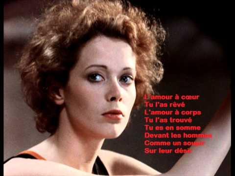 Pierre Bachelet -- Emmanuelle 1974  avec lyrics, Paroles