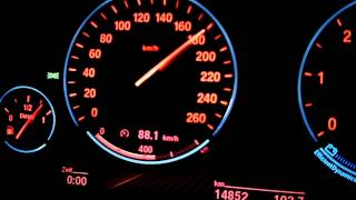 BMW 530d xDrive (F10) - 0-240 km/h full Acceleration on the Autobahn