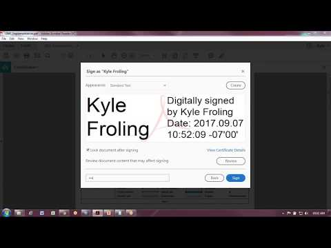 Digitally Signing A Document In Adobe Reader DC For FREE