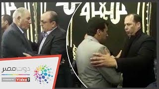 وزير الرياضة وحازم إمام والزند فى عزاء خالد توحيد