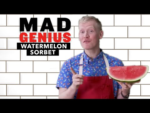 Watermelon Sorbet With Only 3 Ingredients | Mad Genius