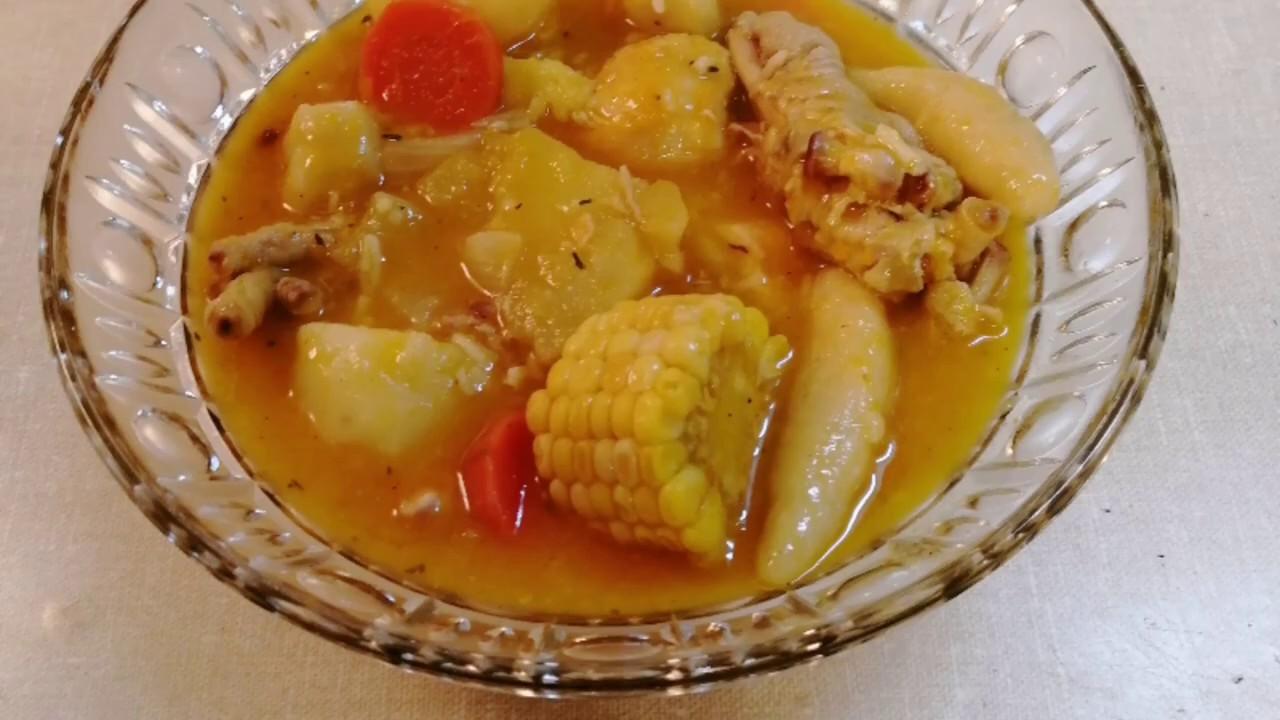 jamaican chicken feet/foot pumpkin soup  youtube