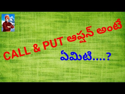 What is Call & Put in Option Trading?(Telugu)