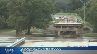 Those in Kingsland begin process of cleaning up the flood damage