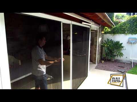 Instalacion mosquitero plegable doble