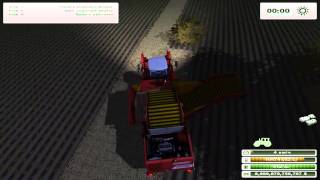 Potato harvest tractor case ih steiger 600
