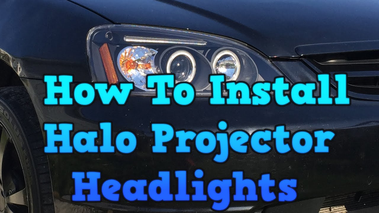 2002 Honda Civic - How To Install Halo Projector Headlights - YouTube