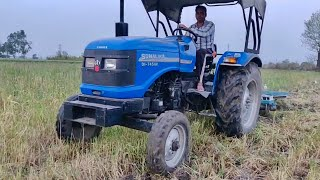 Sonalika DI 745 Tractor Field work with Disc harrow Attachment | New Tractor
