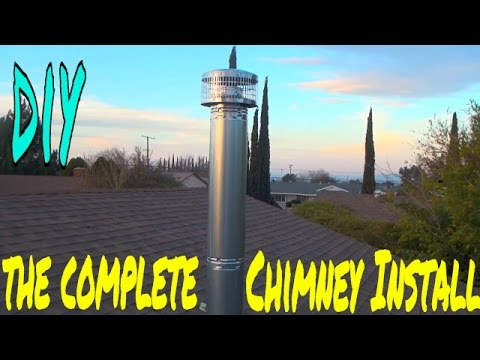 full-chimney-installation-for-the-wood-stove-in-my-shop,-how-i-did-it-ep-5-of-7