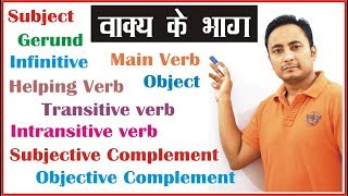 Parts of a Sentence (वाक्य के भाग): Subject Verb Object Complement: English Grammar I For beginners