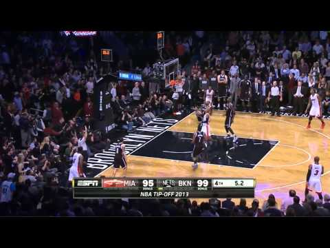 Nets vs Heat 100-101 [10-Nov-2013] final minute