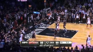 Nets vs Heat 100-101 [10-Nov-2013] final minute