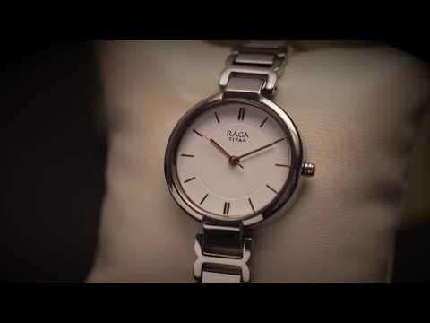 Titan Raga Viva White Dial Analog Watch For Women 2608sm01 Youtube