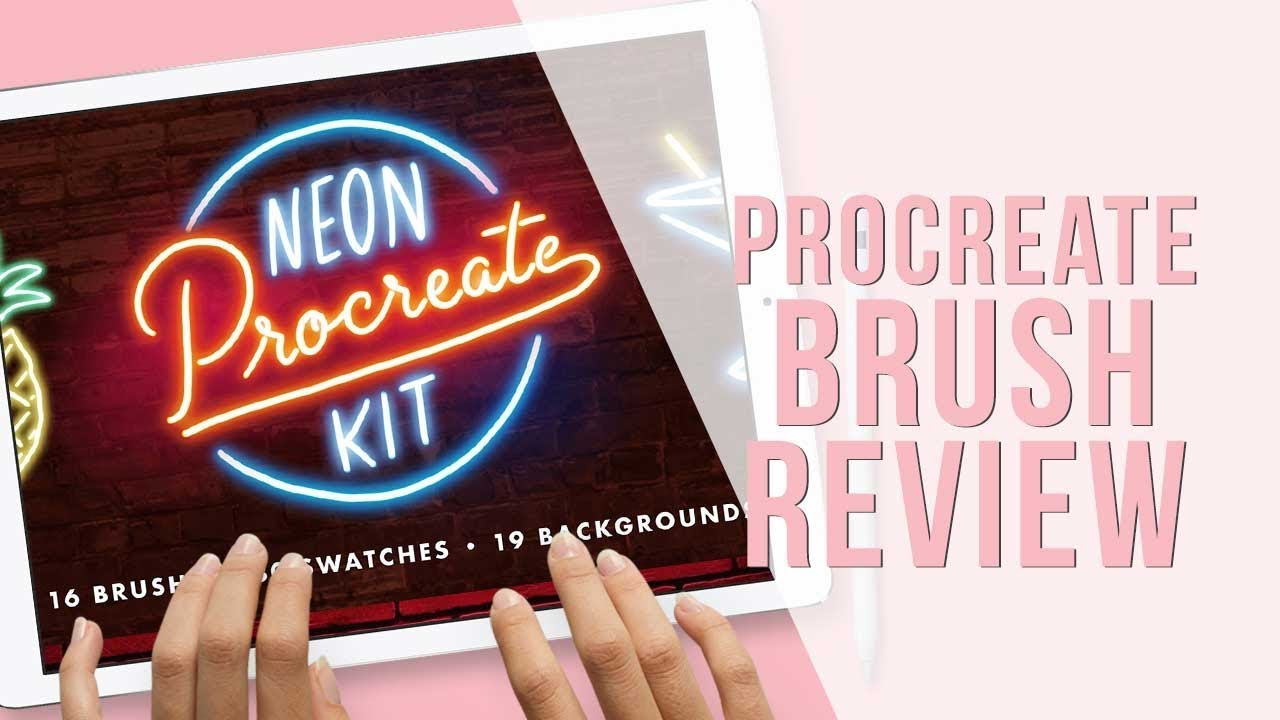 Procreate Brush Review | Neon Procreate Kit Brushes by Mila Garret | Holly  Pixels
