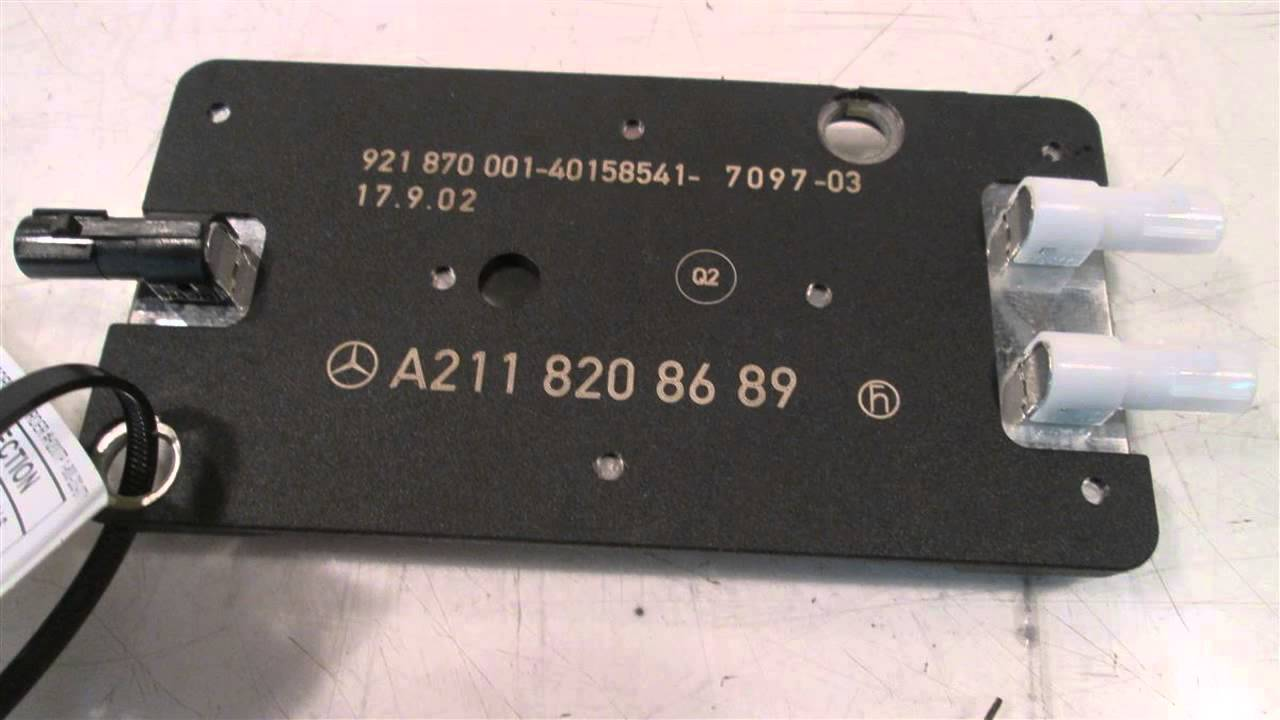 2003 Mercedes E500 Antenna Amplifier 2118208689 - Mbiparts Com Used Oem Mercedes Parts